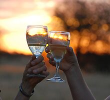 Toasting the Sunset, Leroo-La-Tau, Botswana, Africa by Adrian Paul