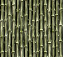 Green Bamboo Nature Pattern (lge) by Skye Ryan-Evans
