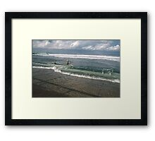 Spring Tide at Newcastle Baths by Bernadette Smith  Framed Print