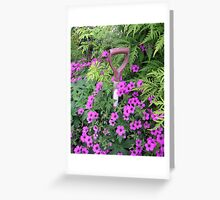 In the garden... Greeting Card