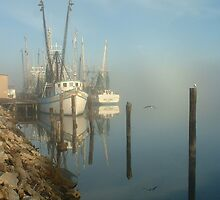 Shrimp Boats by Charlie Sawyer