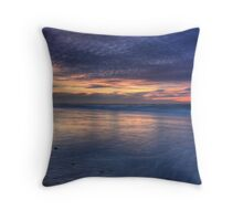 Painted Sky over Inverness Beach Throw Pillow