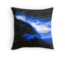 Deep Blue Glow Throw Pillow