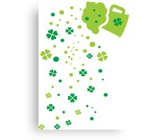 Green Beer st.Patrick's day Canvas Print