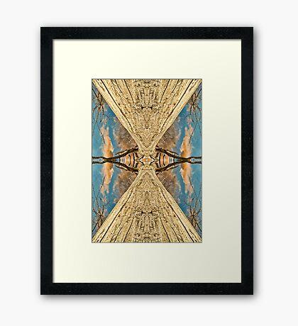 Siamese trees Framed Print