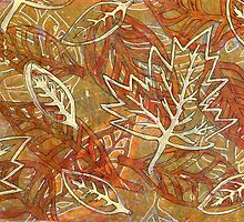 Leaves 18 Mixed Media - Monoprint and Ink by Heatherian