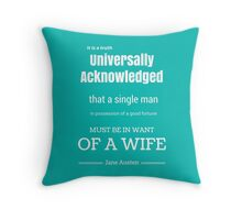 Jane Austen Quote Throw Pillow