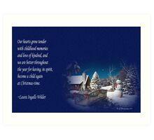 snow scene card Art Print