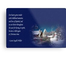 snow scene card Metal Print