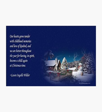 snow scene card Photographic Print