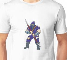 Ninja Masked Warrior Spear Cartoon Unisex T-Shirt