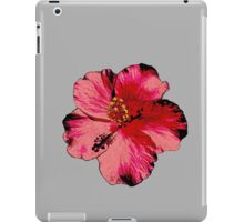 Tropical Pink Hibiscus Flower iPad Case/Skin