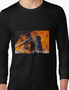fire in the forest Long Sleeve T-Shirt
