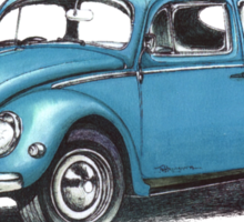 1957 Volkswagon Beetle Sticker