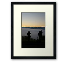 Waiting For The Perfect Shot Framed Print