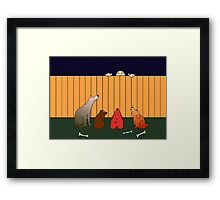 At The Bad Time On The Bad Place Framed Print
