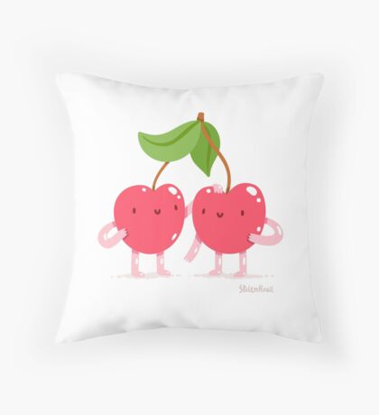 Cherry twins Throw Pillow