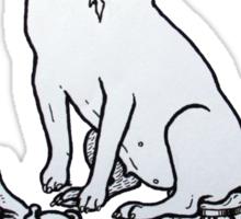 The Helpful Bull Terrier Sticker