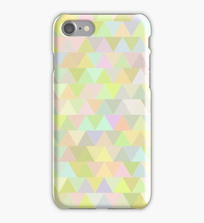 Colorful triangles in olive iPhone Case/Skin