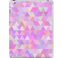 Colorful triangles in pink iPad Case/Skin