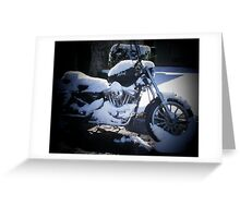 Snowcycle Greeting Card