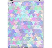 Colorful triangles in blue iPad Case/Skin
