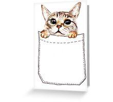 Pocket cat Greeting Card