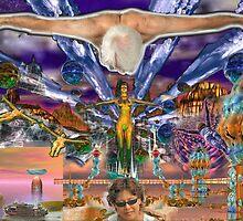 Emma's Fantasy Stargate Nova - digital art by Dave Martsolf