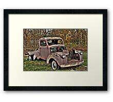 Old Chevy Truck Framed Print