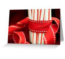 Peppermint sticks Greeting Card