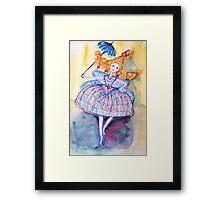 Venice Parasol Girl Framed Print