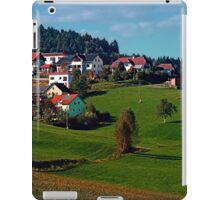 Rural hillside village panorama | landscape photography iPad Case/Skin