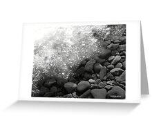 ICE ON THE ROCKS. Greeting Card