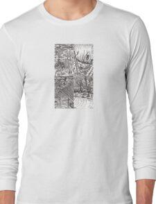 B&W Samurai Noir  Long Sleeve T-Shirt