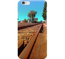 Rails heading to nothing particularly interesting | transportation photography iPhone Case/Skin