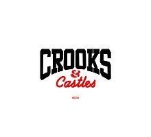 CROOKS& CASTLES CORE LOGO BLACK/RED by CROOKSCREW
