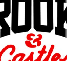 CROOKS& CASTLES CORE LOGO BLACK/RED Sticker