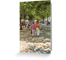 Stepping it out in La Rochelle Greeting Card