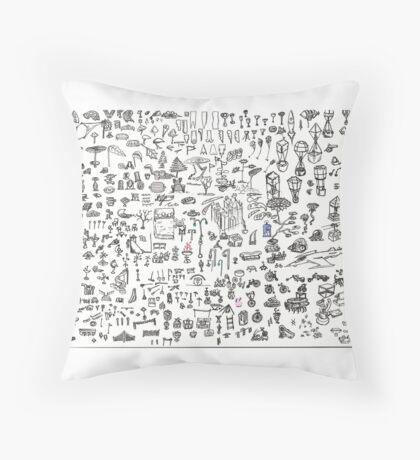 Brainstorming 5-26-2013 - 6-4-2013 Throw Pillow