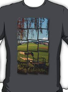 Bench under the tree | landscape photography T-Shirt