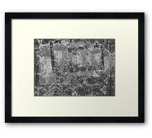 Ghosts of Grayscale Temple Framed Print