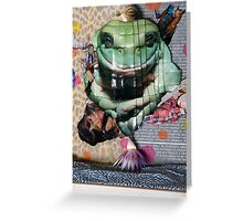 """detail / """"Don't you dare let me kiss the frog before I put lippy on!"""" Greeting Card"""