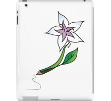 Flower to pencil iPad Case/Skin