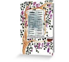 Wisteria Window Treatment Greeting Card