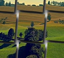 Autumn fields panorama | landscape photography Sticker
