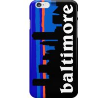 Baltimore, skyline silhouette iPhone Case/Skin