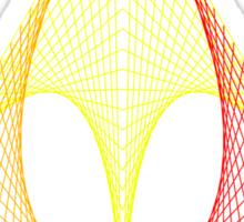 Triangle envelope coloured hot Sticker