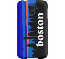 Boston, skyline silhouette Samsung Galaxy Case/Skin