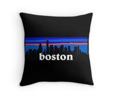 Boston, skyline silhouette Throw Pillow
