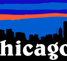 Chicago, skyline silhouette Sticker